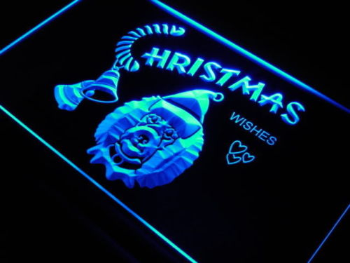 Poodle dog Christmas Wish Decor Neon Light Sign