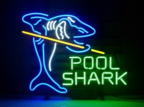 Pool Shark Classic Neon Light Sign 17 x 14