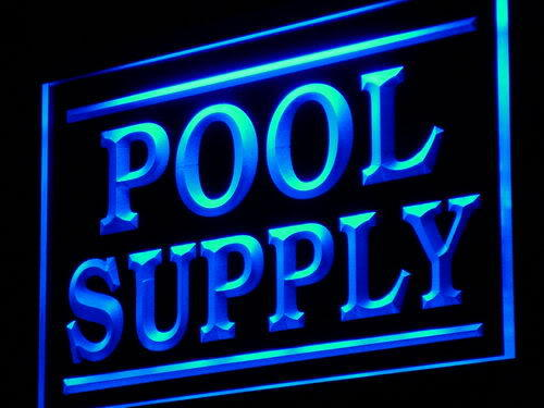 Pool Supply Display Shop LED Neon Sign