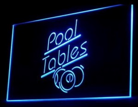 Pool Tables Play LED Neon Sign