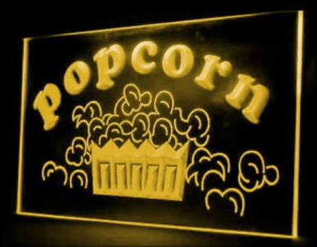 Popcorn Shop LED Neon Sign