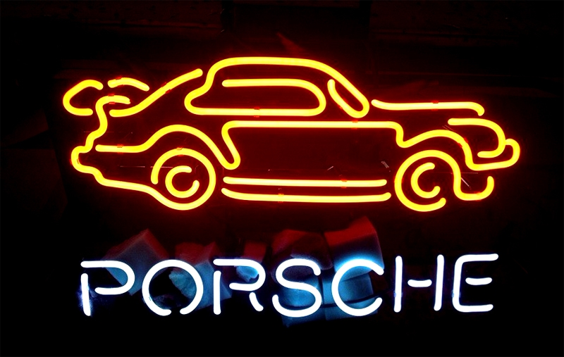 Porsche Euro Auto Beer Neon Light Sign 16 x 14
