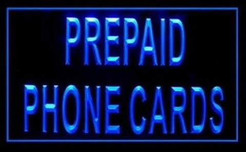 Prepaid Phone Cards LED Neon Sign