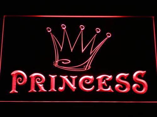 Princess Game Room Crown Neon Light Sign
