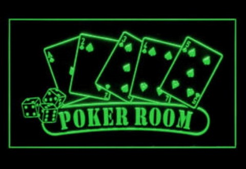 Private Poker Room LED Neon Sign