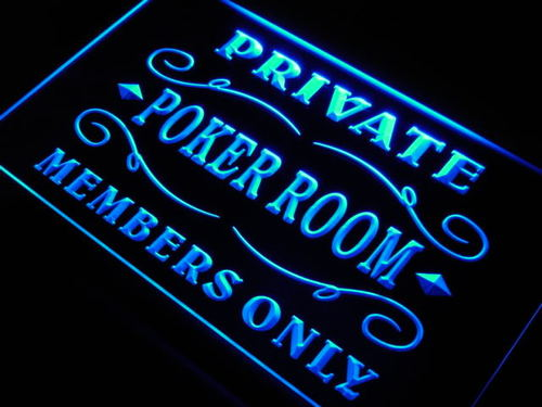 Private Poker Room Member Room Neon Light Sign