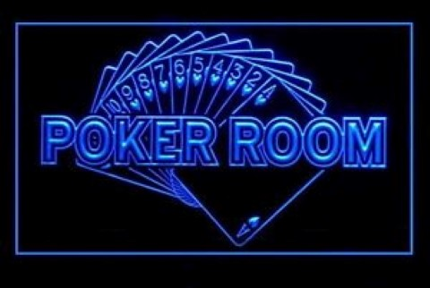 Private Poker Room Royal Flush LED Neon Sign