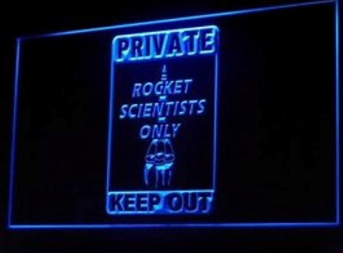 Private Rocket Scientist Only LED Neon Sign