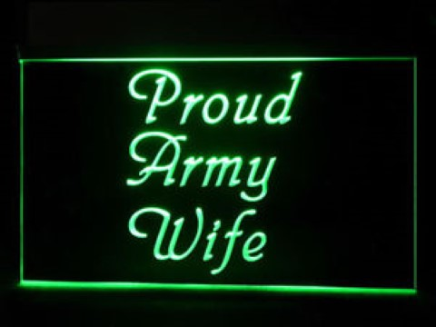 Proud Army Wife LED Neon Sign