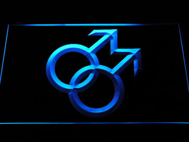 Proud of Gay Man Man Link Together Decor Neon Light