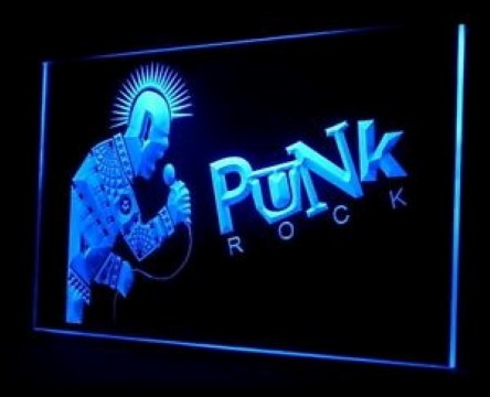 Punk Rock LED Neon Sign