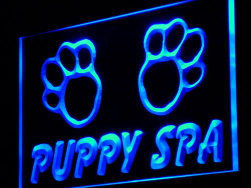 Puppy Spa Dog Pet Shop Neon Light Sign