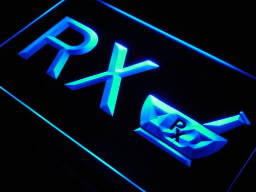 RX Pharmacy Display Shop Neon Light Sign