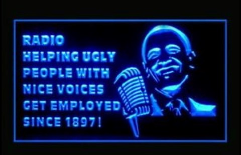 Radio Helping Ugly People LED Neon Sign