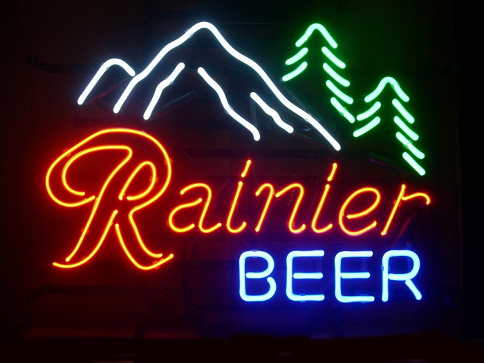 Rainier Mountain Fresh Pabst Neon Light Sign 17 x 14
