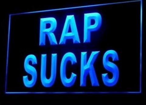 Rap Sucks LED Neon Sign