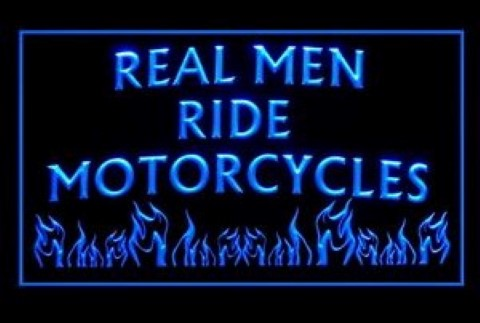 Real Man Ride Motorcycles 2 LED Neon Sign