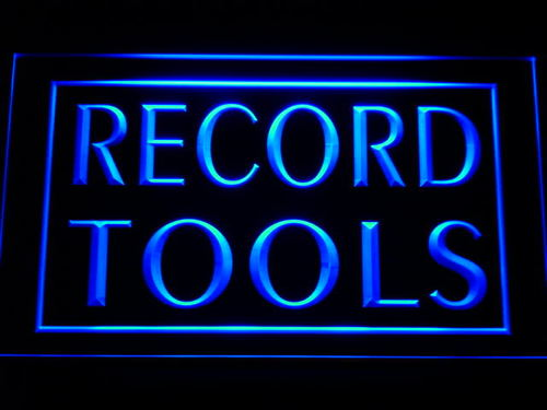 Record Tools Shop Neon Light Sign