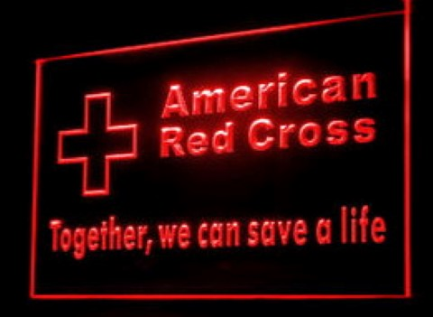 Red Cross Together we can save LED Neon Sign