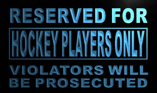 Reserved for Hockey Players only Neon Light Sign