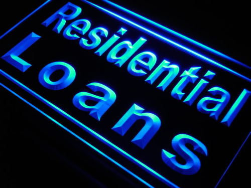 Residential Loans Mortgage Shop Neon Light Sign