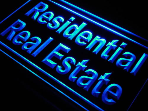 Residential Real Estate Display Neon Light Sign