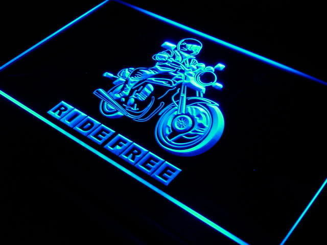 Ride Free Motorcycle LED Sign