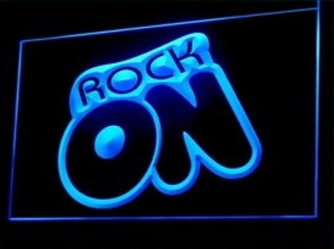 Rock On LED Neon Sign