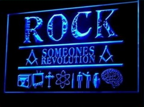 Rock Someones Revolution LED Neon Sign