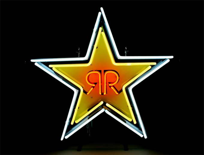 Rockstar Energy Drink Star Logo Neon Light Sign 15x15