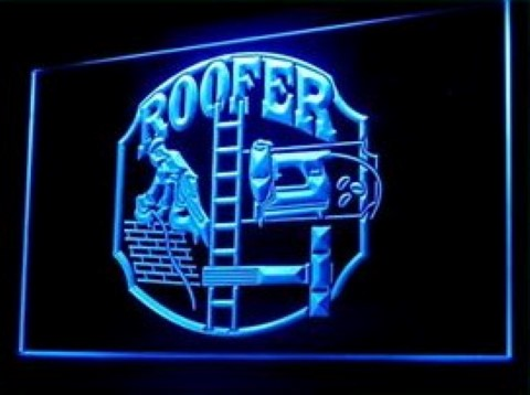 Roofer House Worker LED Neon Sign