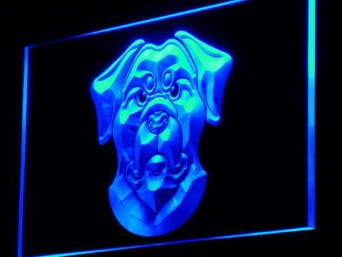 Rottweiler Dog Pet Shop Lure Neon Light Sign