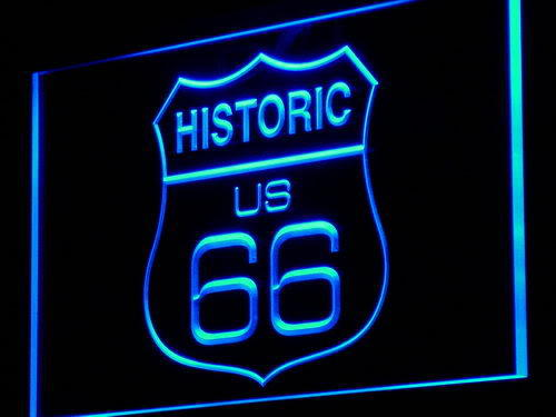 Route 66 Historic Bar Beer Neon Light Sign