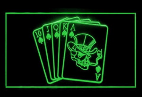 Royal Flush Casino Poker LED Neon Sign