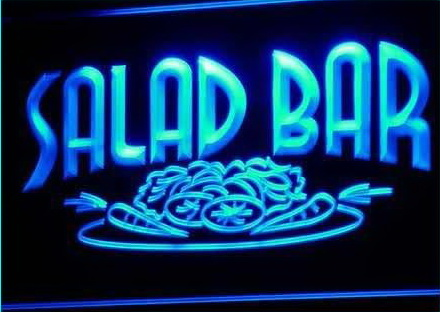 Salad Bar Cafe Enseigne Lumineuse Light Sign