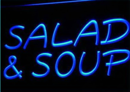 Salad and Soup Cafe Restaurant Neon Light Sign
