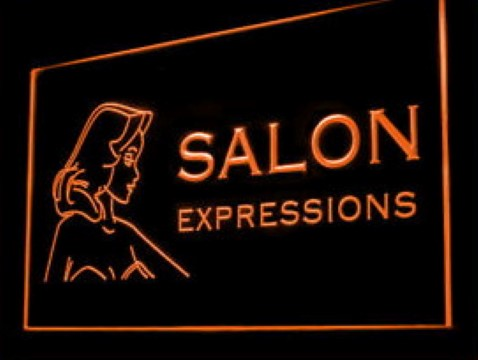 Salon Expressions Hairdo LED Neon Sign