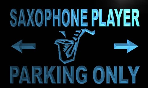 Saxophone Player Parking Only Neon Light Sign