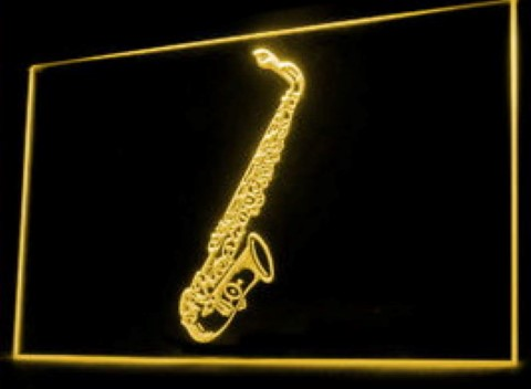 Saxophones Music Lesson LED Neon Sign