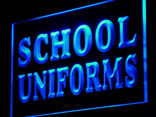 School Uniforms Supply Shop Lure neon Light Sign