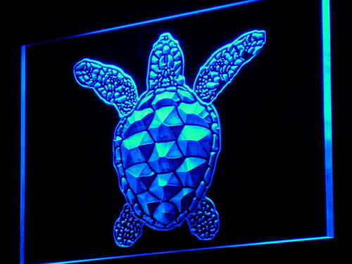 Sea Turtle Animals Display Neon Light Sign
