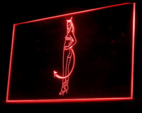 Sexy Devil Girl LED Neon Sign