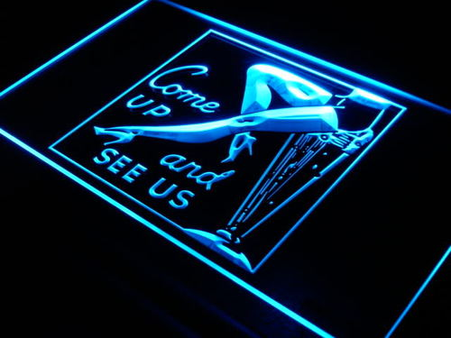 Sexy Leg Come Up See Us Bar Beer Neon Light Sign