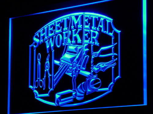 Sheet Metal Worker Display Neon Light Sign