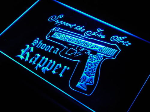 Shoot a Rapper Rap Mixer Guns DJ Neon Light Sign
