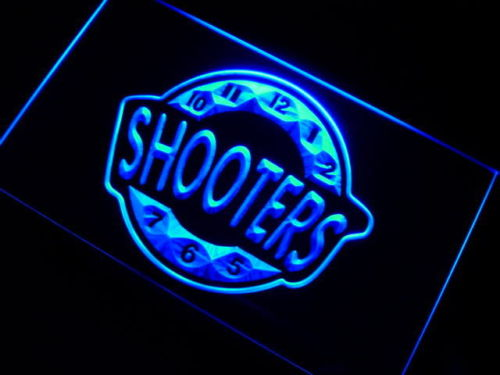 Shooter Happy Hour Bar Beer Neon Light Sign