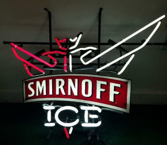 Smirnoff Ice Logo Neon Sign
