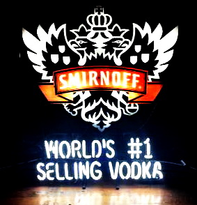 Smirnoff Worlds 1 Selling Vodka Neon Sign