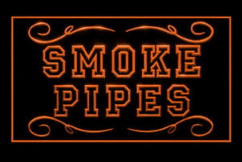 Smoke Pipes Old Style LED Neon Sign