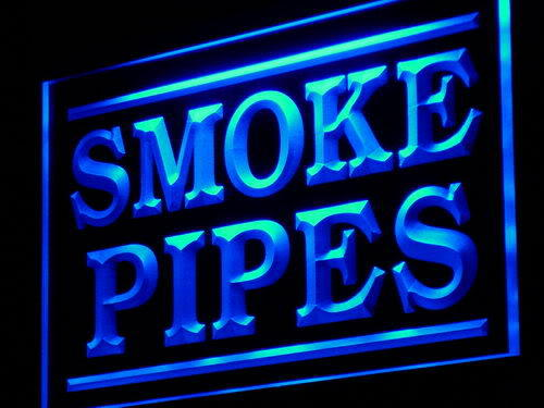 Smoke Pipes Shop Display Adv neon Light Sign